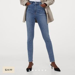 H&M Skinny High Waisted Jeans